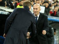 Auch BVB-Coach Thomas Tuchel und Real-Trainer Zinédine Zidane hatten nur Lob füreinander übrig
