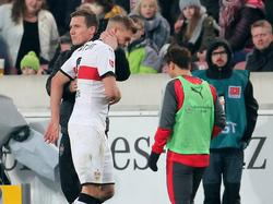 Simon Terodde verletzt sich im Bundesligaspiel gegen den FCBayern München