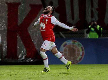 Jonatan Gómez abrió el marcador para Santa Fe. (Foto: Imago)