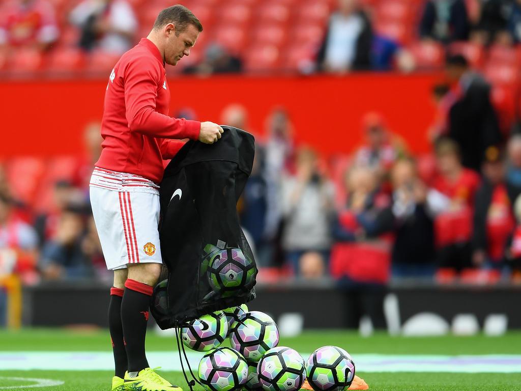Wayne Rooney fungierte bei Manchester zuletzt als Ballträger