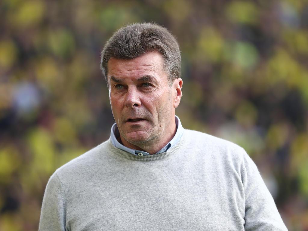 Dieter Hecking war nach der 1:6-Pleite in Dortmund alles andere als zufrieden