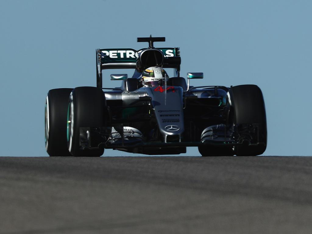 Hamilton war am Mittag in Austin schneller als Teamkollege Rosberg