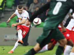 Valon Berisha hatte gegen Krasnodar mit einem Lattenschuss Pech