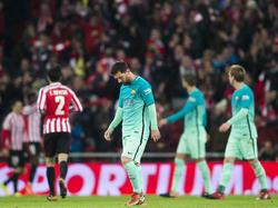 Auch Messi konnte gegen Bilbao am Ende nichts ausrichten
