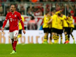 Ribery tras un gol del Dortmund (Foto: Getty)