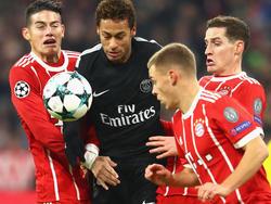 Paris-Superstar Neymar blieb im Spiel gegen die Bayern blass