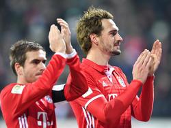 Mats Hummels (r.) wurde vom Rücktritt Philipp Lahms überrascht