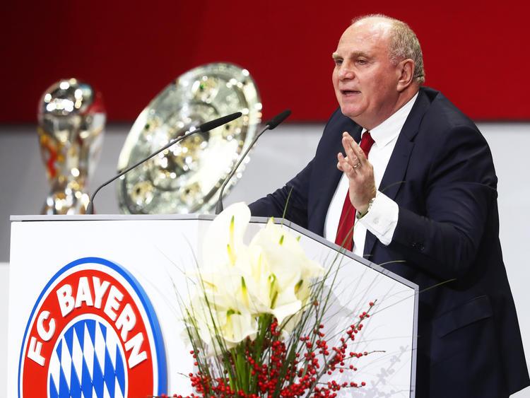 Uli Hoeneß ist mit der Entwicklung seines Vereines hochzufrieden