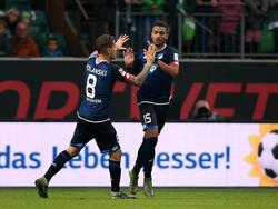 Eugen Polanski (l.) bleibt Hoffenheim treu