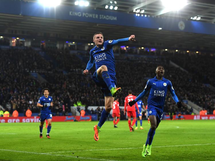 Jamie Vardy traf doppelt für Leicester gegen Liverpool
