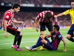 Los vascos acabaron muy molestos con Neymar con 3-1 en el marcador. (Foto: Getty)