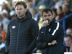 Wird RB-Coach Ralph Hasenhüttl nach dem Spiel gegen Frankfurt zufrieden sein?