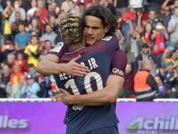 Haben sich wieder lieb: Neymar und Edinson Cavani