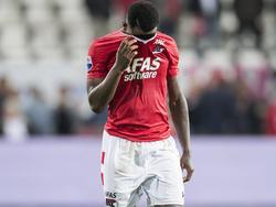 Ridgeciano Haps baalt na afloop van het competitieduel AZ Alkmaar - Go Ahead Eagles (24-09-2016).
