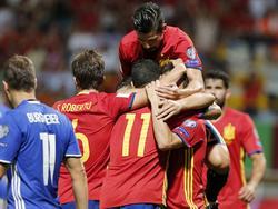 Spanien darf gleich achtmal gegen Liechtenstein jubeln