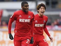 Anthony Modeste (l.) bleibt dem 1. FC Köln treu