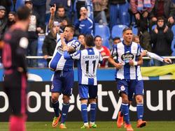 Joselu celebrando un gol con el Dépor. (Foto: Getty)