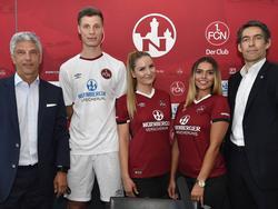 Der 1. FC Nürnberg stellt seinen neuen Trikots und den neuen Hauptsponsor vor