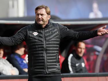 Ralph Hasenhüttl kam mit seinen Leipzigern nur zu einem 0:0 gegen den FC Ingolstadt