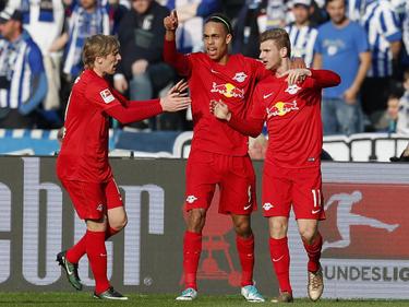 El Leipzig volvió a demostrar su potencial ofensivo en Berlín. (Foto: Getty)