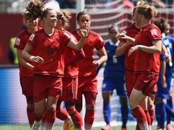 Deutschland bejubelt das 1:0 von Leupolz