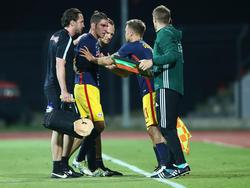 Salzburg-Kapitän Jonatan Soriano musste in Albanien verletzt vom Platz