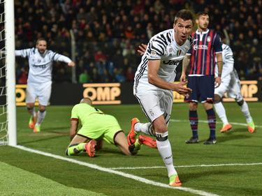 Mario Mandžukić traf für Juventus zum 1:0 gegen Crotone