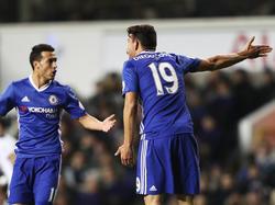 Diego Costa (r.) vom FC Chelsea ist für seine Streit-Sucht bekannt.