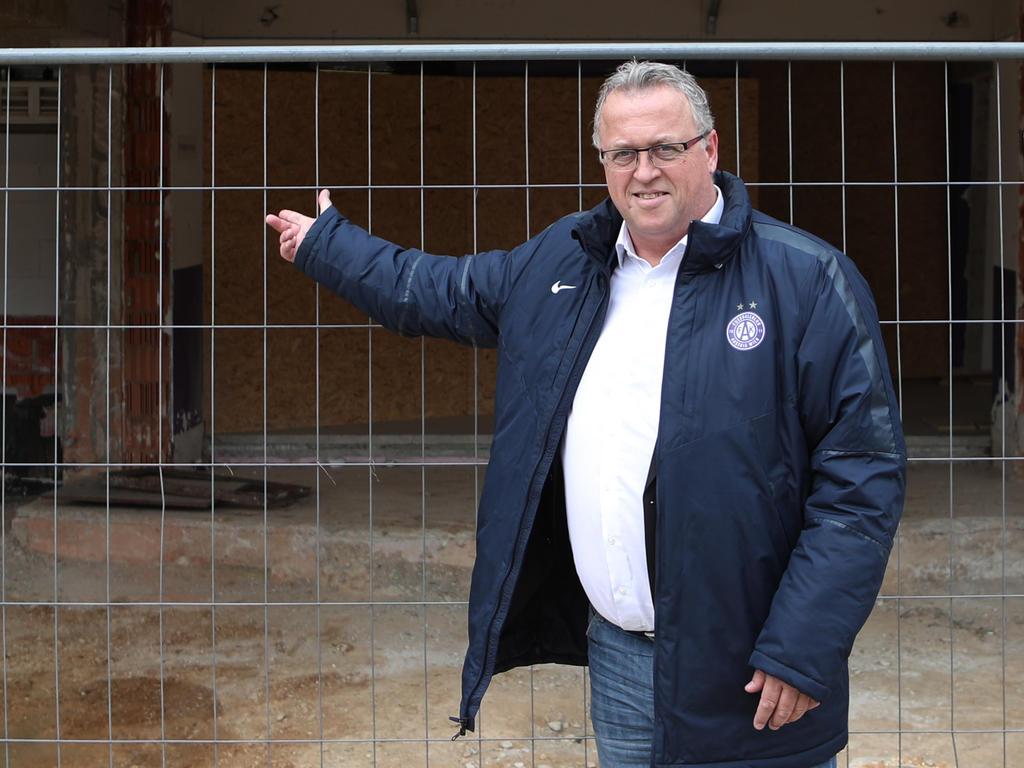 Franz Wohlfahrt ist derzeit als Kader-Baumeister gefordert.