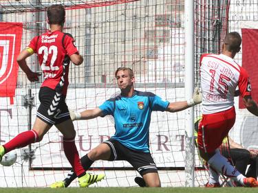 Marco Grüttner (re.) brachte den SSV mit 1:0 in Führung