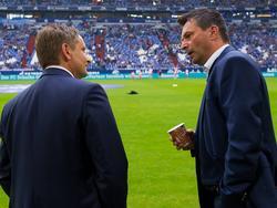 Horst Heldt (l.) war auf Schalke Vorgänger von Christian Heidel