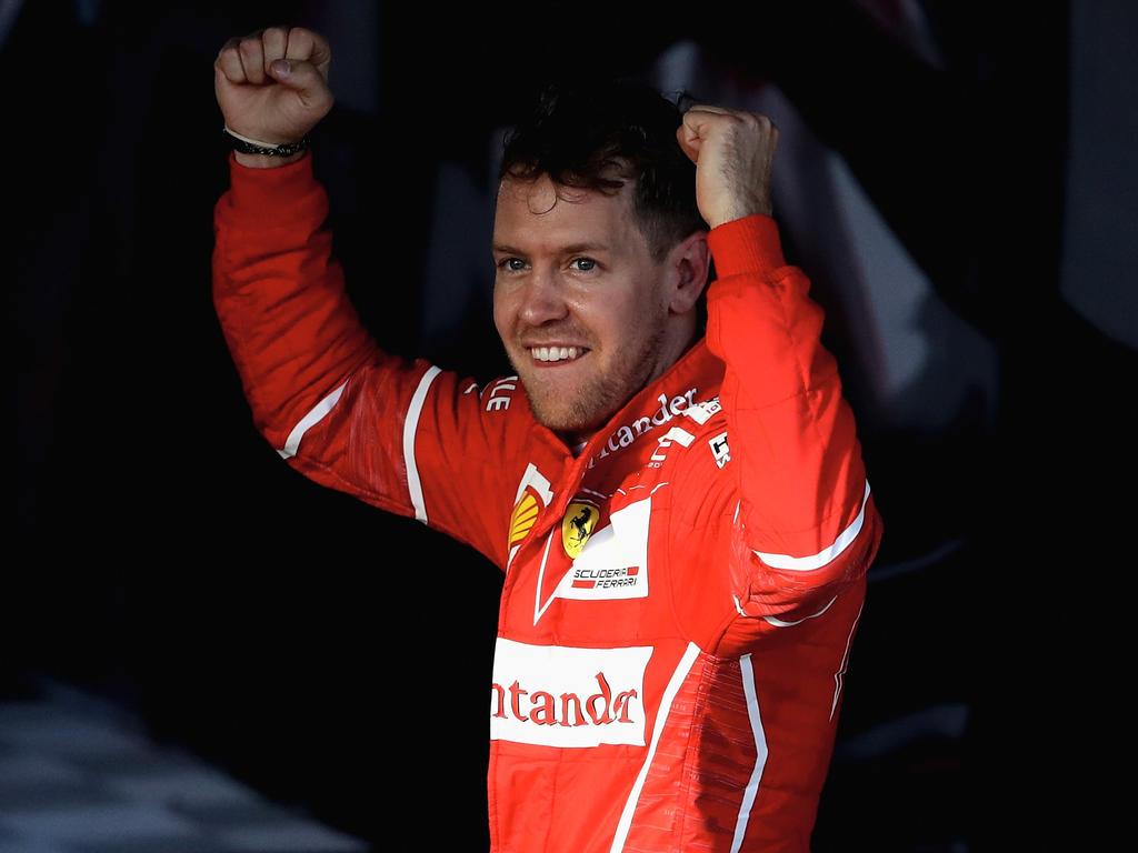 Sebastian Vettel darf sich über adelnde Worte des Ross Brawn freuen