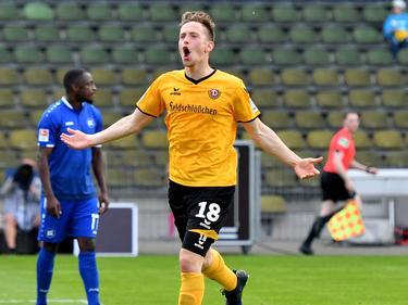 Jannik Müller hat in Dresden verlängert