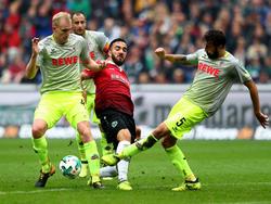 Gegen Hannover 96 erkämpfte sich der 1. FC Köln den ersten Punkt der Saison