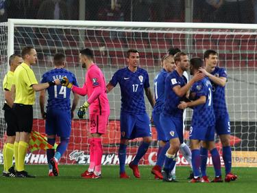 Freud und Leid auf einem Bild: Kroatien (blau) bucht das WM-Ticket