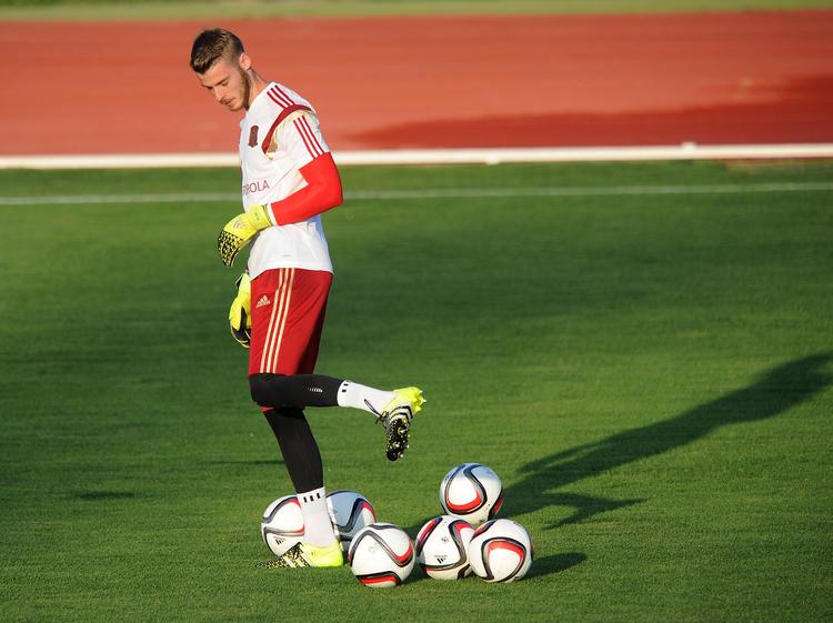 David de Gea fue uno de los jugadores más observados en el entreno de España. (Foto: Getty)
