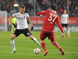 Ranisav Jovanović  (l.) wechselt vom SV Sandhausen zum FSV Frankfurt
