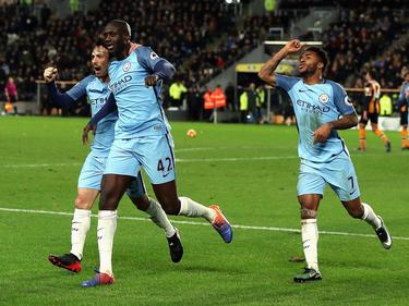 Ausgerechnet Yaya Touré (M.) sorgte für das 1:0 für Manchester City