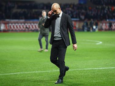 Pep Guardiola tres el Monaco-Manchester City (Foto: Getty)
