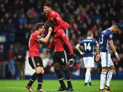 Manchester United hat sich knapp gegen West Bromwich durchgesetzt