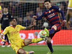 Omar Mascarell (l.) hat auch schon Schwergewichte wie Leo Messi abgegrätscht