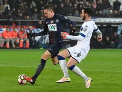 Julian Draxler krönte sein Pflichtspieldebüt für PSG mit einem Lupfer zum 7:0-Endstand