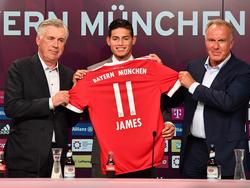 Bei Bayern gibt's wohl nur die 11 für James Rodríguez