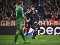 Antoine Griemann feierte seinen Treffer gegen Manuel Neuer im CL-Halbfinal-Rückspiel 2016