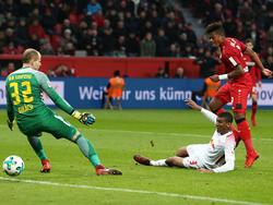 Leon Bailey (r.) glänzte gegen Leipzig