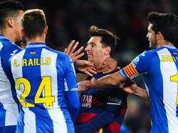 Zuletzt wurde es hitzig: RCD-Spieler attackieren Lionel Messi