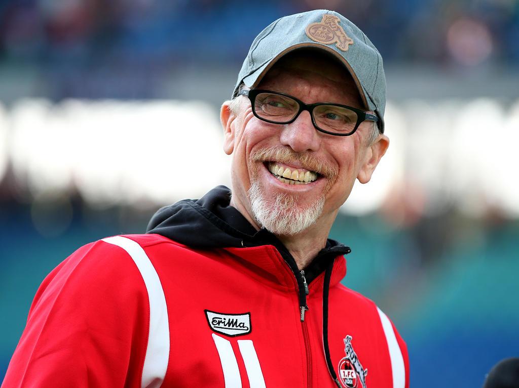 Peter Stöger sieht die Kölner durchaus mit Chancen gegen Arsenal