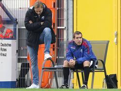 Florian Fulland (r.) wird offiziell Co-Trainer des SCP