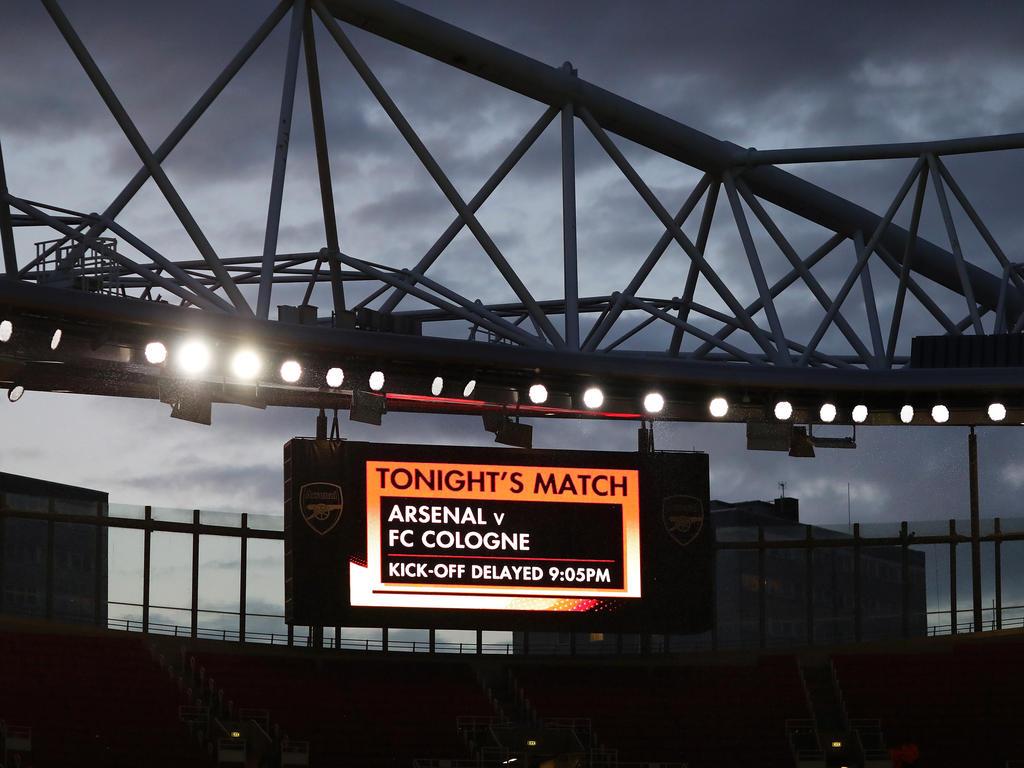 Das Europa-League-Spiel zwischen dem 1. FC Köln und Arsenal wurde verspätet angepfiffen