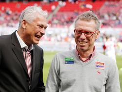 Österreicher unter sich: Toni Polster und Peter Stöger